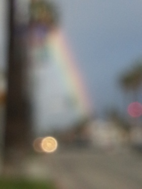 Blurry LA rainbow...